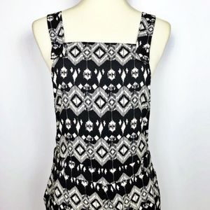 NWT Sans Souci Cropped Overalls Size Medium